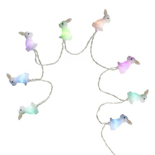 Easter Rabbit Multi Coloured LED Battery Light String